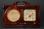 "Motorola 50XC Radio Marbleized Tortoise Catalin ""Circle-Grill"""