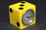 "Catalin Bakelite New Haven ""Dice"" Clock - Incredibly Bright"