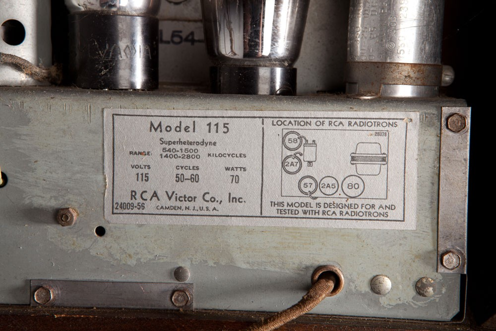 RCA Victor Radio Model 115