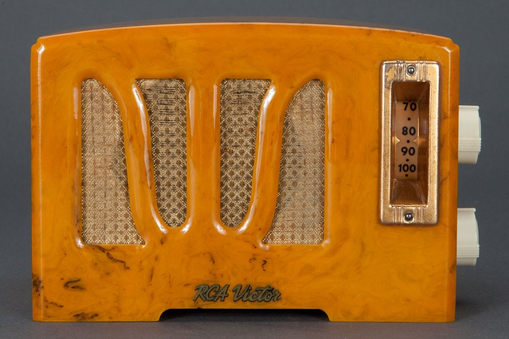 RCA Catalin RC350 Butterscotch Tulip-Grill Art Deco 1938 Radio