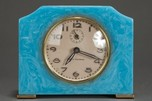 Art Deco Seth Thomas Catalin Bakelite Clock in Azure Blue