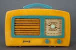 "Catalin Sonora KM ""Coronet"" Yellow + Blue 1941 Art Deco Radio"