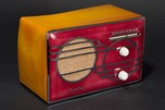 Sparton 500C Red Cloisonné Radio with Catalin Case - Art Deco