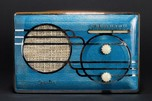 Sparton 'Cloisonné' 500C Radio Blue with Yellow Catalin Cabinet - Rare