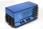 "Sparton 558 ""Sled"" Radio Blue Mirror Walter Dorwin Teague Design - Stunning"