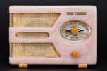 Orchid Tom Thumb Catalin Radio Model 955 'Oval-Dial' - Rare Color + Design