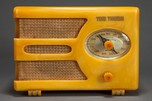 "Tom Thumb ""Oval-Dial"" Catalin Radio Model 955 in Yellow - Rare Deco Design"