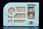 Tom Thumb 'Deco' Catalin Radio in Azure Blue - Exceedingly Rare