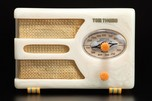 Tom Thumb 955 'Oval-Dial' Catalin Radio in Alabaster - Great Deco Design