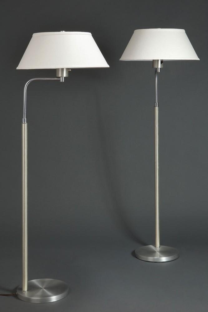 Great Pair Walter Von Nessen Spun Aluminum Art Deco Floor Lamps Lighting Decophobia 20th Century Design